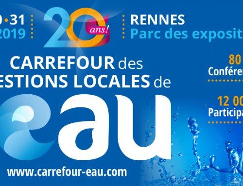 SOMEI présente ses offres digitales métiers au salon du carrefour des gestions locales de l'eau à Rennes le 30 et 31 janvier 2019